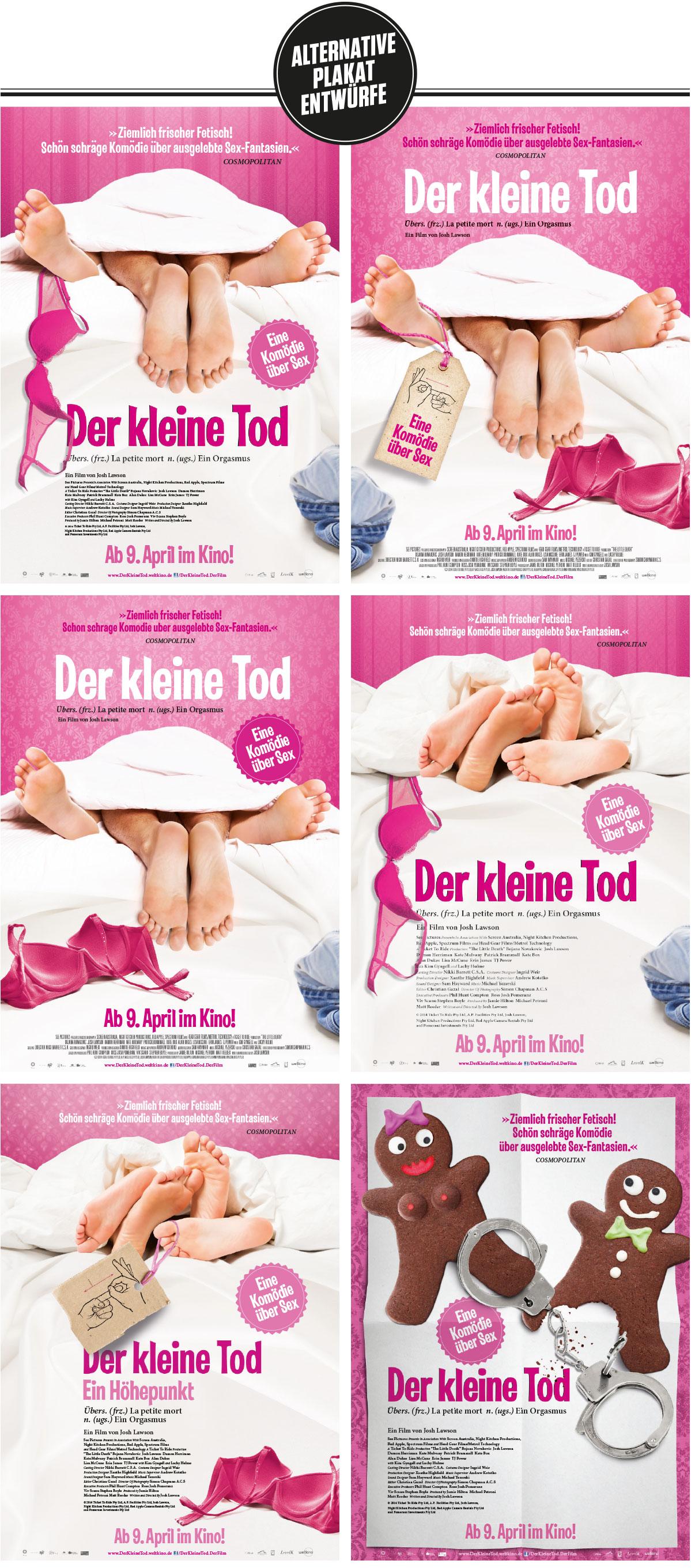 Der Kleine Tod Grafik Plakate Weltkino Affaire Populaire