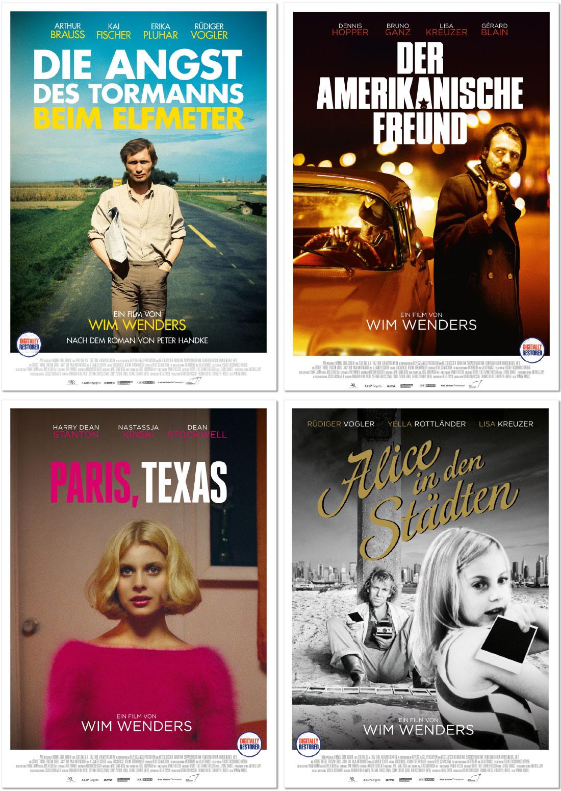 Affaire Populaire Grafik Design Wim Wenders DVD Arthaus Plakate