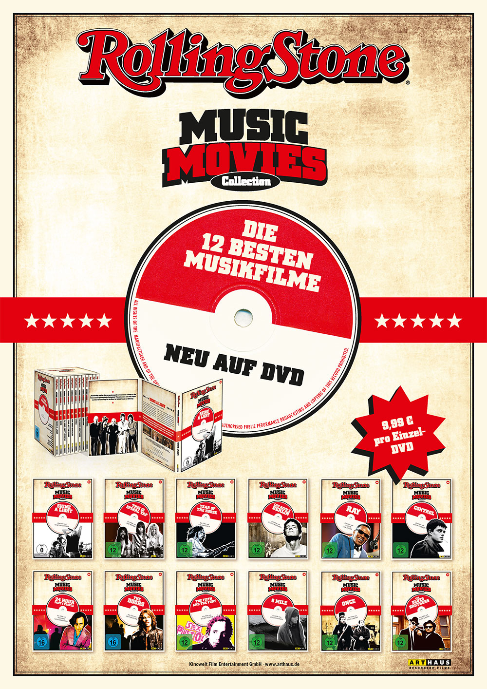 Rolling Stone Music Movies Arthaus DVD