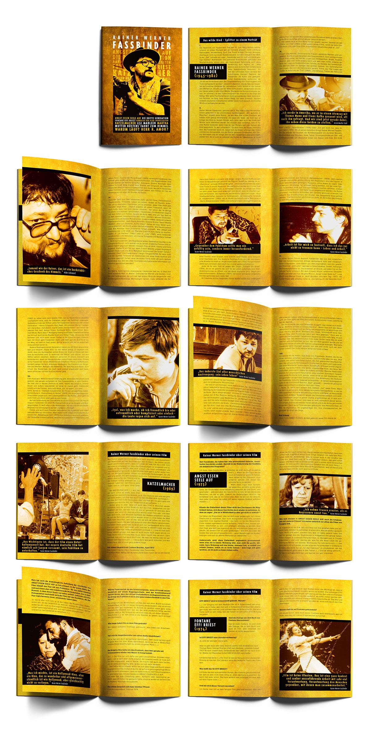Rainer Werner Fassbinder DVD Arthaus Booklet