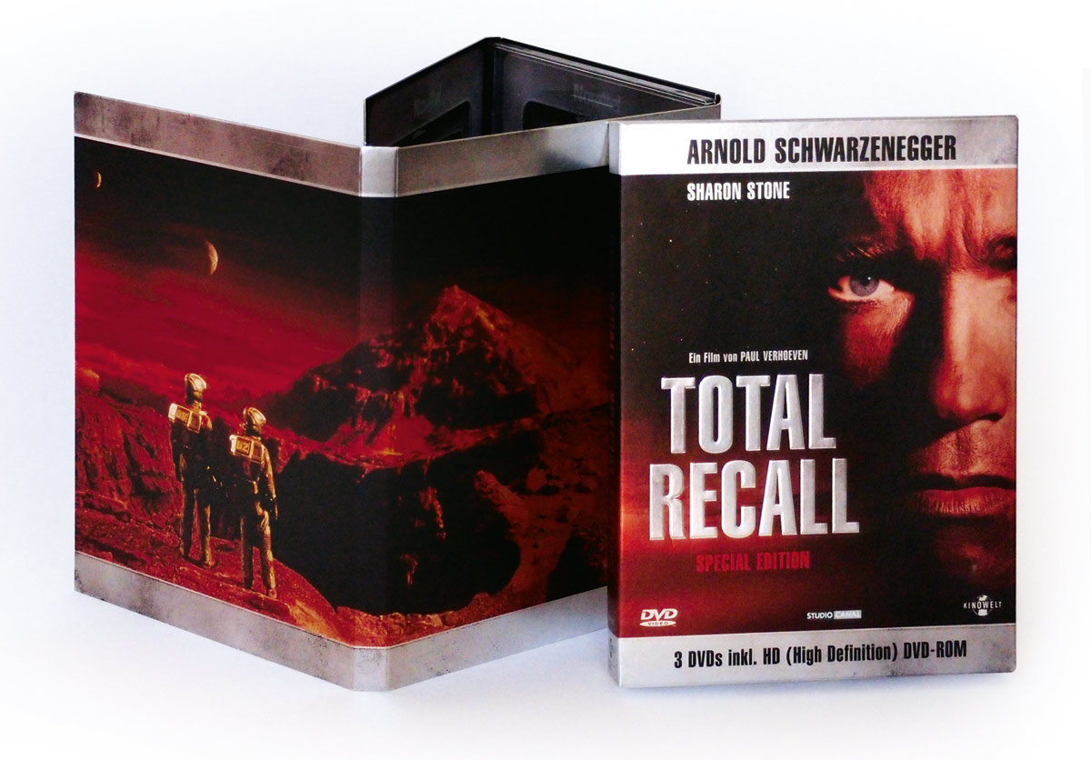 Affaire Populaire Total Recall DVD Grafik Design
